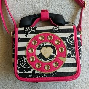 Betsy Johnson Floral Telephone Purse